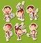 Stock Image : Monkeys set