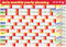 Stock Image : Daily Monthly Yearly 2015 Calendar Planning Chart