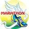 Stock Image : Mooie illustratie van het embleem van de marathon
