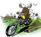 Stock Image : Moose-biker