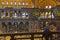 Stock Image : Mosaic interior in Hagia Sophia at Istanbul Turkey