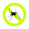 Stock Image : Mosquito alert and repellent sign