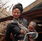 Stock Image : Mother & baby Enn-Tribe Village Myanmar