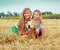 Stock Image : Mother and daughter with a dog