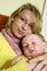 Stock Image : Mother hug son