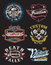 Stock Image : Motorcycle Themed Badges