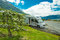 Stock Image : Motorhome in Lofthus, Hardangerfjord, Norway
