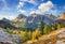 Stock Image : Mount Lagazuoi, Falyarego path, Dolomites
