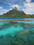 Stock Image : Mount Otemanu and turquoise water