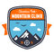Stock Image : Mountain adventure badge emblem