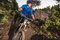 Stock Image : Mountain Bike Riders On The Deschutes River Trail
