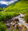 Stock Image : Mountain creek in the valley of village Adishi