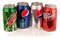 Stock Image : Mountain Dew, Diet and Regular Pepsi, Dr. Pepper