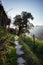 Stock Image : The mountain stone path
