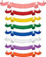 Stock Image : Multi colored Ribbons