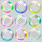Stock Image : Multicolored transparent soap bubbles