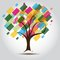 Stock Image : Multicolored tree for Business card