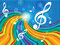 Stock Image : Music Background Indicates Text Space And Artistic
