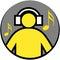 Stock Image : Music logo