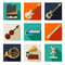 Stock Image : Musical instruments icons