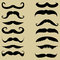 Stock Image : Mustache. Set