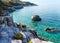 Stock Image : Mylopotamos beach summer view (Greece)