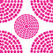 Seamless pattern background with circles pink color