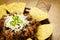 Stock Image : Nachos and chili con carne