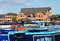 Stock Image : Narrowboats in Barton Marina.