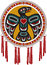 Stock Image : Native American Drum with Eagle