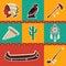 Stock Image : Native american symbol icons