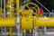 Stock Image : Natural gas pipelines and valves