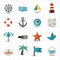 Stock Image : Nautical and sea icons
