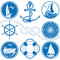 Stock Image : Nautical symbols and icons