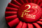 Stock Image : 2nd place winners rosette or badge in red