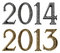 Stock Image : New year 2014