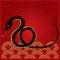 Stock Image : New Year Snake Design