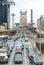 NEW YORK CITY - OCTOBER 24, 2015: Heavy traffic along Queensboro