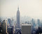 Stock Image : New York City view with Empire State building