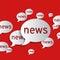 Stock Image : News balloons