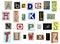 Stock Image : Newspaper alphabet