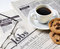 Stock Image : Newspaper and coffee