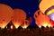 Stock Image : Night Balloons