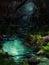Stock Image : Night at magical river-2