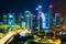 Stock Image : Night Scenery of Singapore's downtown