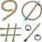 Stock Image : Nine, Zero, Pound and Percent Arrows
