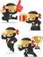 Ninja Customizable Mascot 17