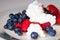 Stock Image : Niskotłuszczowy śniadanie z jagodami