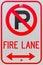 Stock Image : No Parking Symbol Fire Lane Sign