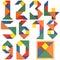 Numbers set, tangram
